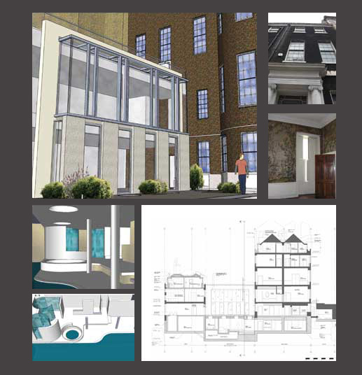 CV of Experience: Residential extension design within a listed building in Mayfair, London